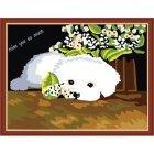 ME088 Белый щенок